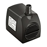 Lyqily 210 GPH (800L/H) Submersible Water Pump For Aquarium, Pond, Fish Tank Fountain Water Pump Hydroponics with 5.9ft (1.8M) Power Cord