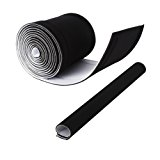 Kootek 236'' ( 2 X 118'' ) Cable Management Sleeves, Neoprene Cable Organizer Wrap Flexible Cord Cover Wire Hider Reversible Black & White, Cuttable by Yourself for TV Computer Office Theater