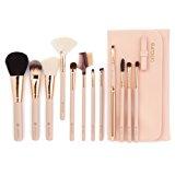 amoore Makeup Brush Makeup Brushes with Case Makeup Brush set Foundation Brush Powder Brush (12 Pcs, nude)