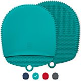 The Ultimate Silicone Oven Mitts / Pot Holders. Unique Design Makes These Kitchen Mittens Heat Resistant Up To 500°F, Non-Slip & Flexible for the Highest Protection & Performance (Teal, 1 Pair)