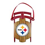 NFL Pittsburgh Steelers Football Metal Sled Christmas Ornament