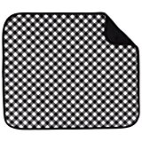 S&T 429800 Microfiber Dish Drying Mat, 16 by 18-Inch, Black Gingham