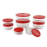 Pyrex 1126079 16 Piece Simply Store Nesting Storage Set, Clear