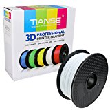TIANSE White PLA 3D Printer Filament, 1 kg Spool, 1.75 mm, Dimensional Accuracy +/- 0.03 mm