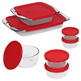 Pyrex 14 Piece Easy Grab Glass Bakeware and Food Storage Set, Clear