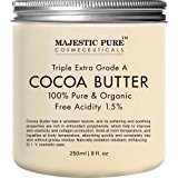 Majestic Pure Cocoa Butter, Organic, Raw, Unrefined Premium Grade Cocoa Butter - 8 oz