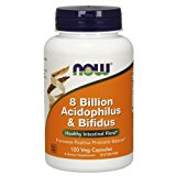 NOW 8 Billion Acidophilus & Bifidus,120 Veg Capsules