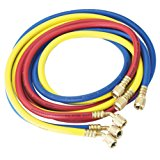 "Robinair (30072) 1/4"" Standard Hoses with Standard Fittings Set - 72"", Set of 3"