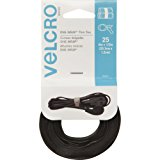 VELCRO Brand One Wrap Thin Ties, Black, 8 x 1/2-Inch, 25 Count (90927)