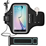 Galaxy Note 8/S7 Edge/S8/S8+ Armband, JEMACHE Gym Run/Jog/Exercise Workout Arm Band for Samsung Galaxy S8 S7 Edge S8 Plus, Note 5 8 with Key/Card Holder