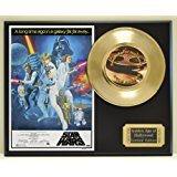 """Harrison Ford, Mark Hammel, and Carrie Fisher in """"Star Wars"""", Limited Edition Gold 45 Record Display. Only 500 made. Limited quanities. FREE US SHIPPING"""