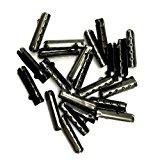 12/24/36/48 PCS Metal Aglets DIY Shoelaces Repair Shoe Lace Tips Replacement End (24PCS, Ebony)
