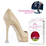 Solemates Heel Protectors – High Heel Stoppers Perfect for Any Wedding or Event Protecting Heels from Grass, Gravel, Bricks, and Cracks (Narrow Clear)