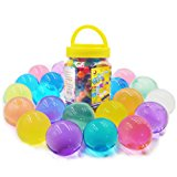 Large Water Gel Beads 11OZ (300pcs) Gaint Water Jelly Pearls Rainbow Mix for Kids Sensory Playing, Wedding Home Decoration,Plants Vase Filler Sold by Jangostor