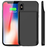 Vproof iPhone X Battery Case 6000mAh, Rechargeable External Battery Portable Power Charger Protective Charging Case for Apple iPhone X,iPhone 10 (5.8 Inch) (Black)