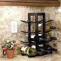 Oceanstar Design Bamboo (Green) 12 Bottle Tabletop Wine Rack; Dark ...