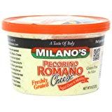 Milano's Romano Cheese Deli Cups, Grated Pecorino, 8 Ounce