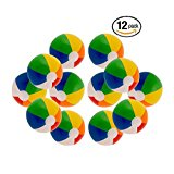 "16"" Rainbow Color Party Pack Inflatable Beach Balls - Beach Pool Party Toys (12 Pack)"