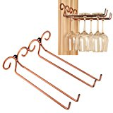 Wine Glass Rack, 2 Rows Stainless Steel Wall-Mounted Wine Glass Hanger For Bar Home By Hmane