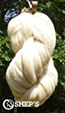 SUPER SALE 1 lb POUND Natural White Wool Top Roving Fiber Spin, Felt Crafts LUXURIOUS with FAST SHIPPING! 1lb