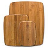 Farberware Classic 3-Piece Bamboo Cutting Board and Serving Set, Assorted Sizes
