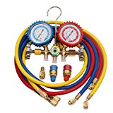 R134a R12 R22 R502 AC A/C Manifold Gauge Set 5FT Colored Hose Air Conditioner Refrige