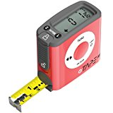 eTape16 ET16.75-db-RP Digital Tape Measure, 16 Feet, Red