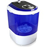 Upgraded Version Pyle Portable Washer, Top Loader, Portable Laundry, Mini Washing Machine, Quiet Washer, Rotary Controller, 110V - Ideal For Compact Laundry, 4.5 Lbs. Capacity, Translucent Tubs