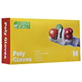 Green Direct Disposable Gloves / Food Grade Household Plastic Gloves / Food Preparation BPA Free Cleaning Gloves, Box of 500, Size Medium