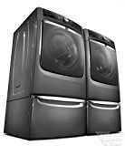 Maytag Maxima XL Front Load Steam Washer and Steam Dryer SET (Electric Dryer) with Pedestals