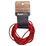 Satin Rattail Braiding Cord 1mm Red 6 Yards - For Kumihimo, Macrame & Knotting