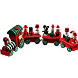 FEITONG New 4 Pieces Kids Baby Wood Christmas Train Decoration Xmas Decor Gift