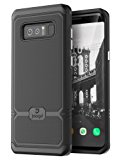 Jaagd Galaxy Note 8 Case, Slim Shock-absorbing Modern Slim Non-slip Grip Cell Phone Cases for Samsung Galaxy Note 8 (Black)