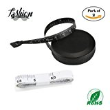 Tape Measure Retractable Measuring Tape for Cloth Body Measuring Tape and the Dual Sided Tape Measure for Sewing Tailor Fabric Measuring Tape (Black and White)