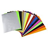Newcomdigi Heat Transfer Vinyl Sheets Heat Transfer Vinyl 16pcs for T Shirts, Hats, Clothing for Heat Press Machine