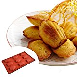 9-Cavity Medium Silicone Mold for Homemade Madeleine Cookies, Chocolate, Candy, and More (Ships From USA)