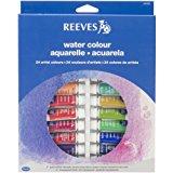 Reeves 24-Pack Water Color Paint Set, 10ml