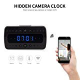 FREDI HD 1080P Wifi Camera Alarm Clock Night Vision/Motion Detection/Display Temperature Home Surveillance Cameras