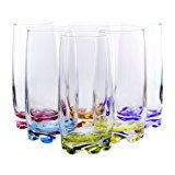 Vibrant Splash Water/Beverage Highball Glasses, 13.25 Ounce - Set of 6