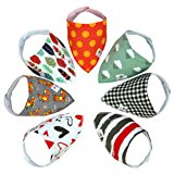 Baby Bandana Drool Bibs for Girls and Boys Stylish Organic Cotton Soft & Super Absorbent