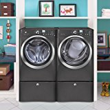 Electrolux Laundry Bundle | Electrolux EIFLS60LT Washer & Electrolux EIMED60LT Electric Dryer w/Pedestals - Titanium