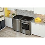 """LG Graphite Steel Top Load Laundry Pair with WT1701CV 27"""" Washer and DLEY1701V 27"""" Electric Dryer"""