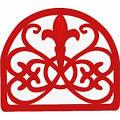 Home Basics Cast Iron Fleur De Lis Napkin Holder, Red