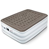 Etekcity Upgraded Air Mattress Blow Up Elevated Raised Bed Inflatable Airbed with Built-in Electric Pump, Height 22'', Queen Size