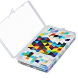 Resinta 300 g/ Pack Assorted shapes Mosaic Tiles Mosaic Glass Tiles Pieces with Storage Box for Home Decoration, Diamond Triangle and Square, Multicolor