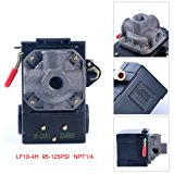 Lefoo Quality Air Compressor Pressure Switch Control 95-125 PSI 4 Port w/ Unloader LF10-4H-1-NPT1/4-95-125