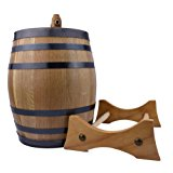 3 Liter American Oak Aging Barrel | Handcrafted using American White Oak | Age your own Whiskey, Beer, Wine, Bourbon, Rum, Tequila & More...