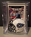 Tennessee Titans NFL Helmet Shadowbox w/ Steve McNair card