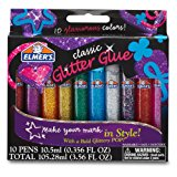 Elmer's 3D Washable Glitter Glue Pens, Classic Rainbow, Pack of 10 Pens (E199) - Great For Making Slime