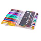 12 Pack of Premium Glitter Gel Pens From Spectrum – Vibrant Color Sparkle Pens ACID/LEAD-FREE & NON-TOXIC Quick-Dry Ink Perfect for Arts & Crafts, Scrap-Booking, Decoupage, Doodling & DIY Decorating